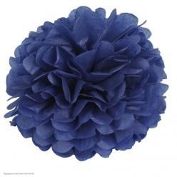 Помпон бумажный 35см синий тёмный