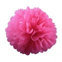 Помпон бумажный 25см розовый тёмный