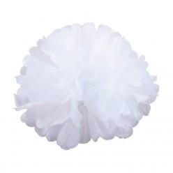 Помпон бумажный 25см белый