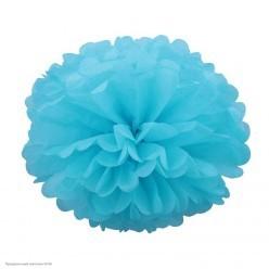 Помпон бумажный 25см голубой