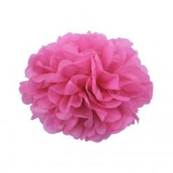 Помпон бумажный 20см розовый тёмный