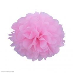 Помпон бумажный 20см розовый