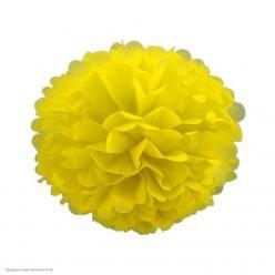 Помпон бумажный 20см жёлтый
