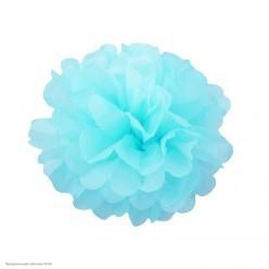 Помпон бумажный 20см голубой светлый