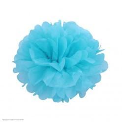 Помпон бумажный 20см голубой