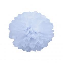 Помпон бумажный 15см белый