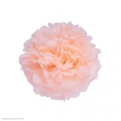 Помпон бумажный 15см розовый светлый