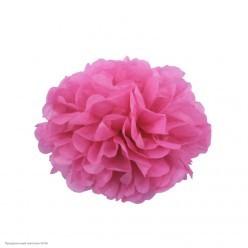 Помпон бумажный 15см розовый тёмн