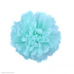 Помпон бумажный 15см голубой светлый