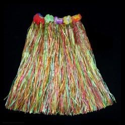 Юбка гавайская 60см (многоцвет)