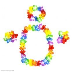 Набор Гавайский (лея, венок, браслеты) многоцвет