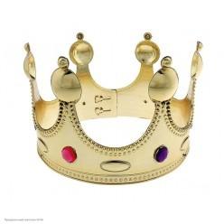 Корона королевская золотая (пластик) 55*12см