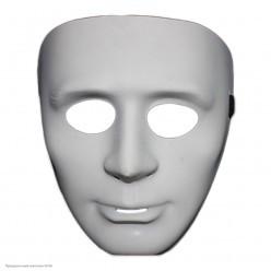 "Маска ""Лицо"" белая (пластик)"