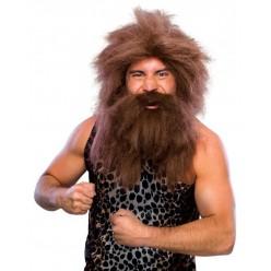 """Парик и борода """"Дикарь"""" (коричневый)"""