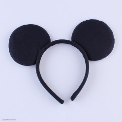 Ободок Уши Мышки Микки чёрные
