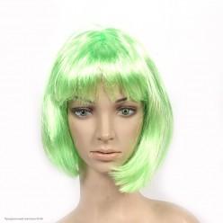 Парик Каре (зелёный яркий) 30см
