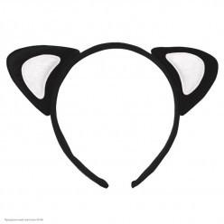 Ободок Уши Кошки (чёрно-белые)