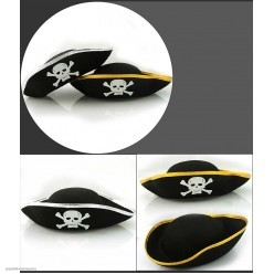 Шляпа Пирата с каймой взрослая (фетр)