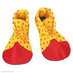 Ботинки Клоуна мягкие (красно-жёлтые) 35см