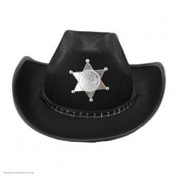 Шляпа Шерифа чёрная (фетр)