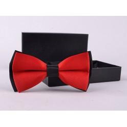 Галстук-бабочка (красный с чёрным) 12*6см