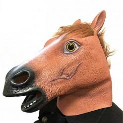 """Маска """"Конь"""" коричневый (латекс)"""
