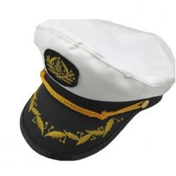 Фуражка Капитана чёрно-белая