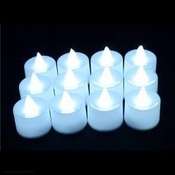 Свеча LED 4,5*3,7см (белый свет)