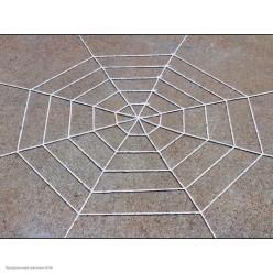 Паутина мягкая 1,5м (5 кругов) белая