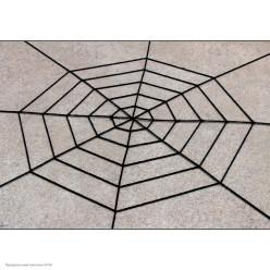 Паутина мягкая 1,5м (5 кругов) чёрная