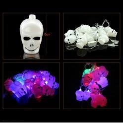 "Электрогирлянда ""Черепа"" LED (3,4м; череп 6*4см, 16шт)"