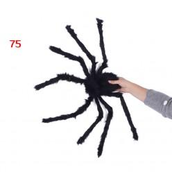 Паук-гигант 75см чёрный (тело 18*9см)