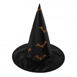 Колпак Ведьмы чёрный (нейлон) Летучие мыши