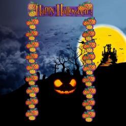 """Украшение на дверь """"Happy Halloween"""" 87*188см"""