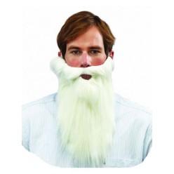 Борода Белая 30*30см (на резинке)