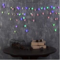 Электрогирлянда LED Дождь 52лампы, 50*300см Помпоны