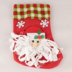 Носочек для подарка 20*15см (текстиль)