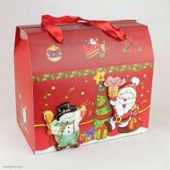 Коробка подарочная НГ 24*22*14см объём/блёстки