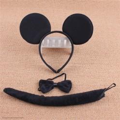 Набор Мышки Микки (уши, бабочка, хвост)