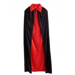 Накидка Трикотажная 2-стороняя 120см (чёрная/красная)