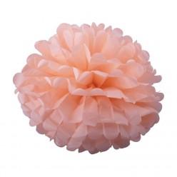 Помпон бумажный 25см розовый светлый