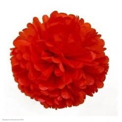 Помпон бумажный 30см красный