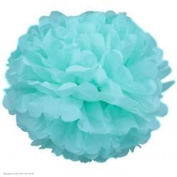 Помпон бумажный 35см голубой светлый