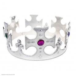 Корона королевская серебряная (пластик)