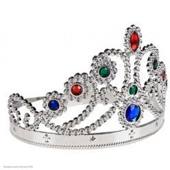 Корона королевская серебряная (пластик) 59*11,5см