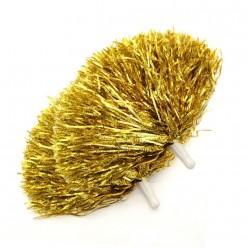 Помпоны для чирлидинга (фольга) ручки, золотые