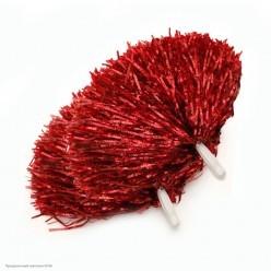 Помпоны для чирлидинга (фольга) ручки, красные