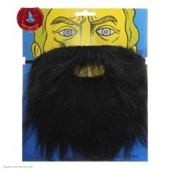 Борода Чёрная прямая 20*16см (на резинке)