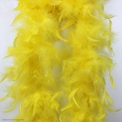 Боа (перья) большое 1,8 м жёлтое (40гр)