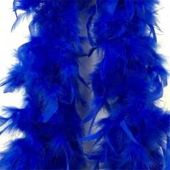 Боа (перья) большое 1,8 м синее (40гр)